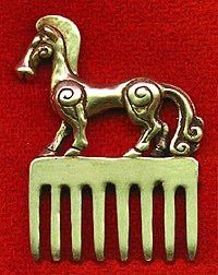Scythian Comb: Ancient region in southeastern Europe & Asia. The center of the Scythian empire, which existed between the 8th & 2nd centuries BC, was on the northern shores of the Black Sea & extended from southern Russia to the borders of Persia.