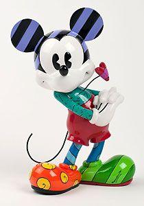 Mickey Mouse - Mickeys Heart - Britto - Romero Britto - World-Wide-Art.com - $70.00 #Britto #Mickey