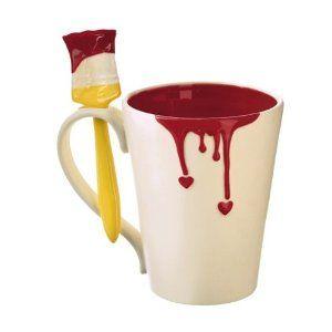 Paint Heart Mug with Spoon