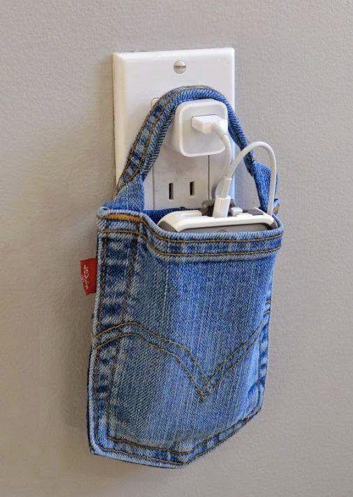 #DIY #pocket para cargar el celu! #Tela #Denim por metros o rollos en www.telavendo.com.ar
