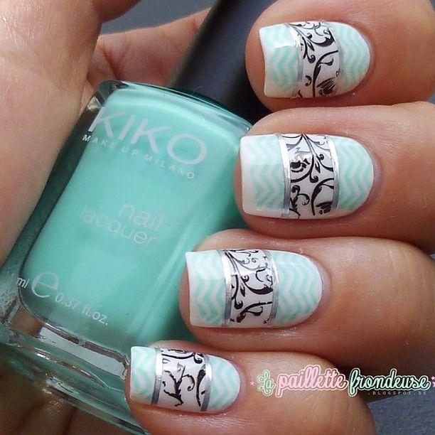 nail art- uñas azules