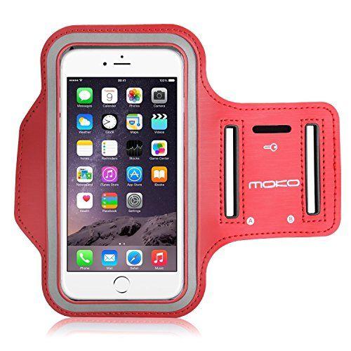 MoKo+Armband+for+iPhone+6s+Plus+/+6+Plus,+Sweatproof+Sports+Armband+Running+Arm+Band+for+iPhone+6S+Plus,+6+Plus,+Samsung+S8+Plus,+S7+Edge,+Note+4+/+5,+J7,+BLU,+Red+(Fits+Arm+Girth+12.6″-19.3″)