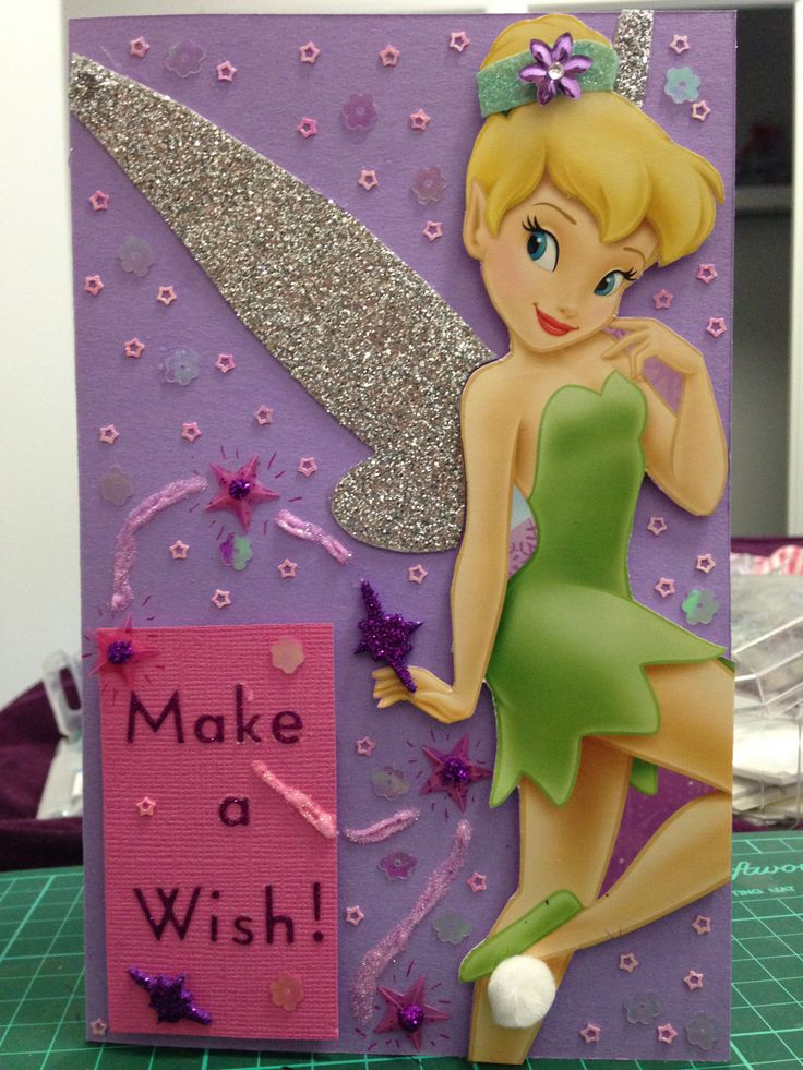 73 best Ninas 5anera images – Tinkerbell Birthday Card
