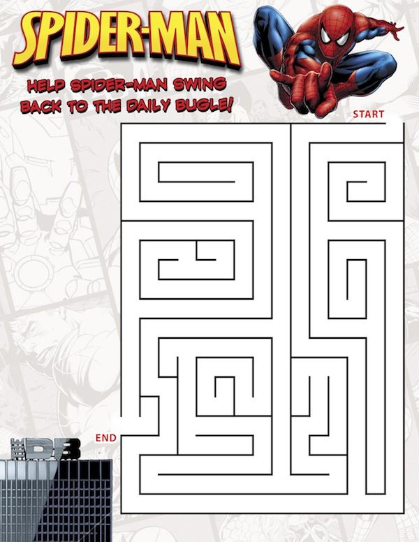 Spiderman Maze http://www.great-kids-birthday-parties.com/superhero-printables.html | Birthday ...