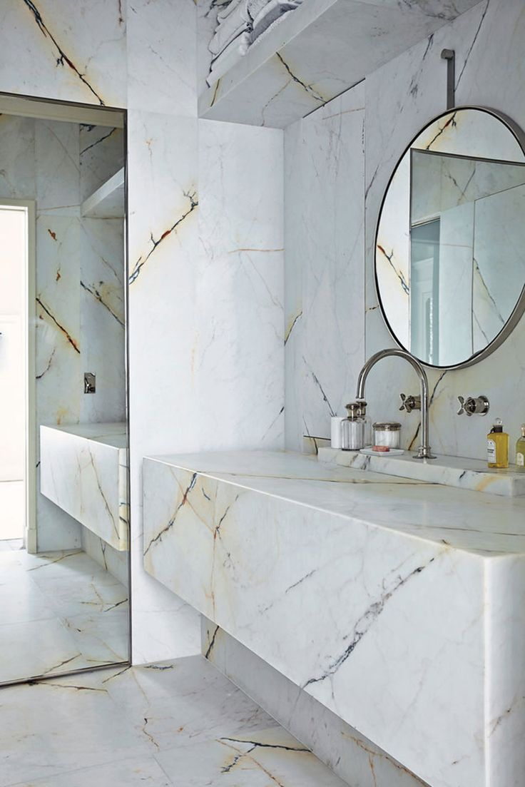 Schön Sleek All Marble Bathroom