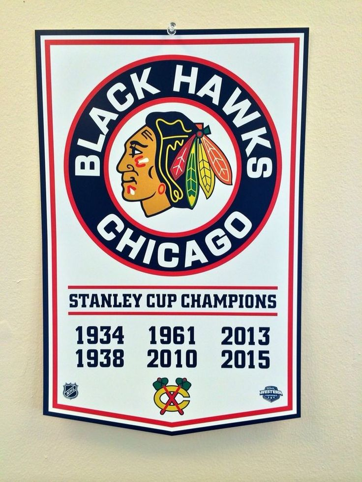 Chicago Blackhawks 2015 NHL Stanley Cup Championship Banner Style Hockey Poster #ChicagoBlackhawks
