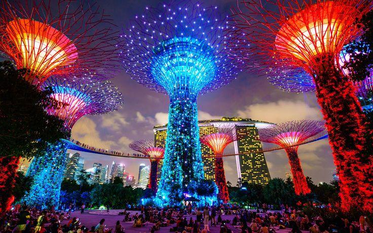 Resultado de imagen para arboles artificiales en singapur