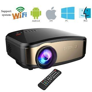 """Features & Benefits"" Home Projector, Mengyasi WIFI Video Projector HD 1080P C6 Video Game Projectors 1200 Lumens LED Home Cinema TV Projector With HDMI/USB/VGA/AV Input for PC Laptop (Black)"