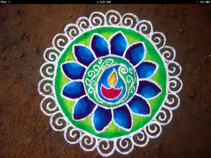 104 best images about rangoli designs for diwali on pinterest for Floor rangoli design