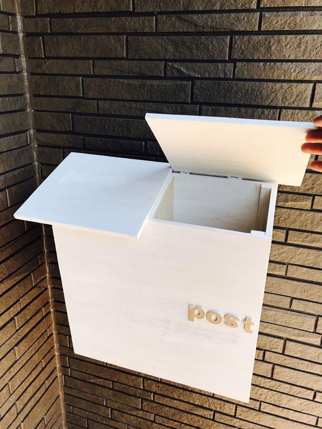 二世帯 ポスト ポスト シャビーシック 郵便ポスト