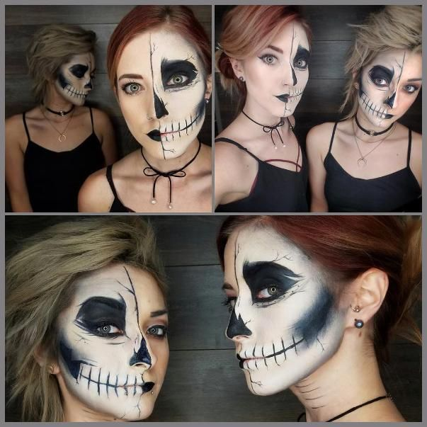 We're using our Black Jelly Jar Gel Eyeliner for more than #WingItOutWednesday! Practice this skeletal Halloween look from Aura Hair And Makeup and take a walk on the spooky side with us.