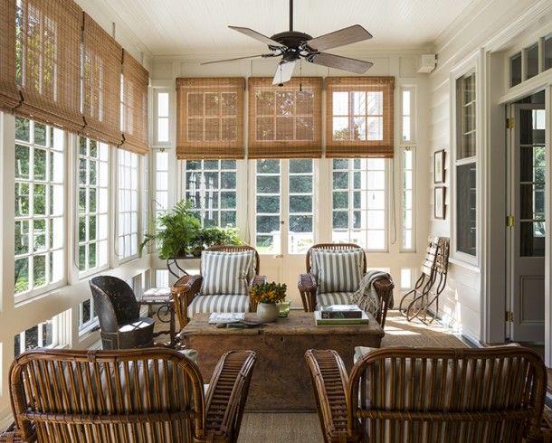 Great sun room with classic rattan: MarkCunningham - desire to inspire - desiretoinspire.net