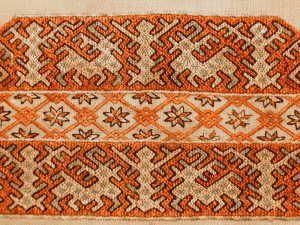 Band of embroidery. Karel. Tver Province. The end of XIX century
