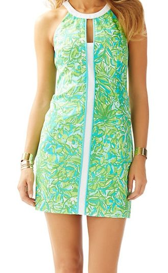 Lilly Pulitzer Pearl Shift Dress in Fresh Citrus Green Parrot