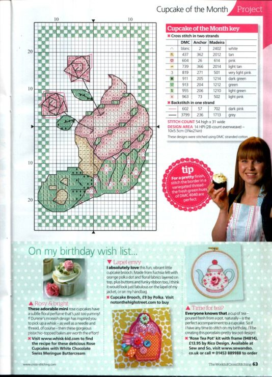 Gallery.ru / Photo # 36 - The world of cross stitching 191 - tymannost. Cross stitch cupcake