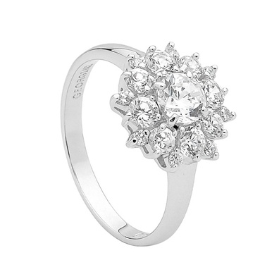 Silver and Some - Georgini Ring, Clear Cluster Ring.  Sterling Silver. $109.00