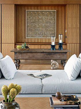 Beautiful living spaces at Arnalaya Beach House.