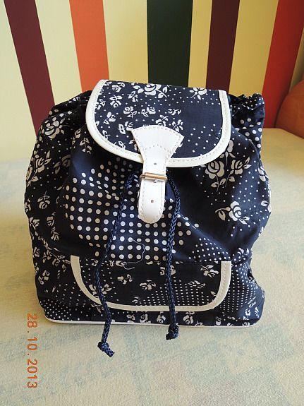 Bild 1: Damenrucksack - blau gemustert - NEU 4€