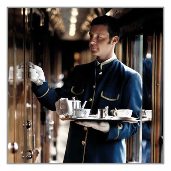It is truly a unique, intimate and stylish experience that resounds to the voices of royalty, heads of state and celebrities such as Gregory Peck, Alan Whicker and Cher. Dressing for the occasion is all part of the experience. Our guide is that you can never be overdressed aboard the Venice Simplon-Orient-Express   http://www.luxury-trains.co.uk/