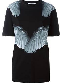 wing print T-shirt