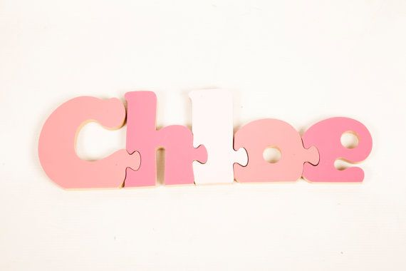 Personalised Gifts for Kids - 5 Letter Personalised Name Jigsaw on Etsy, $16.00