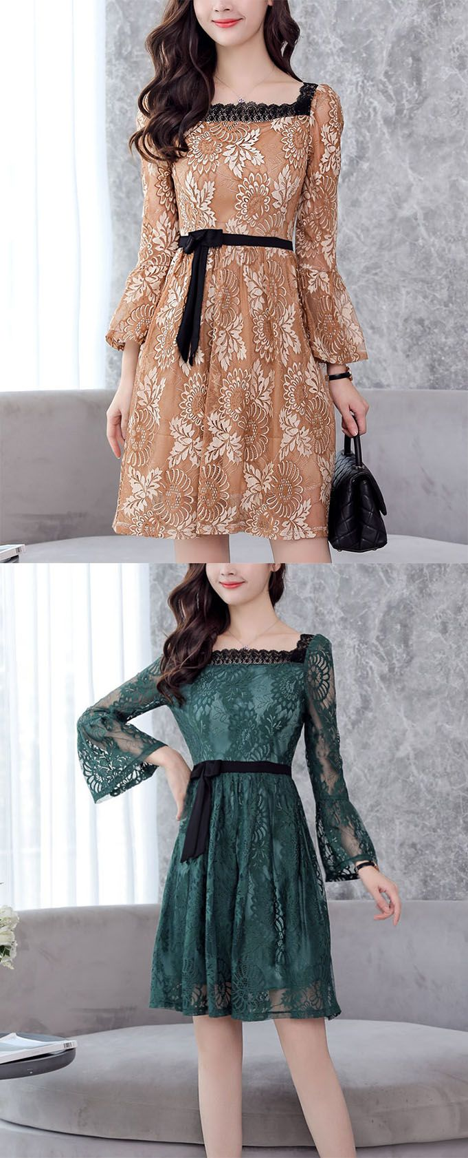 Women's Daily Street chic Lace Dress