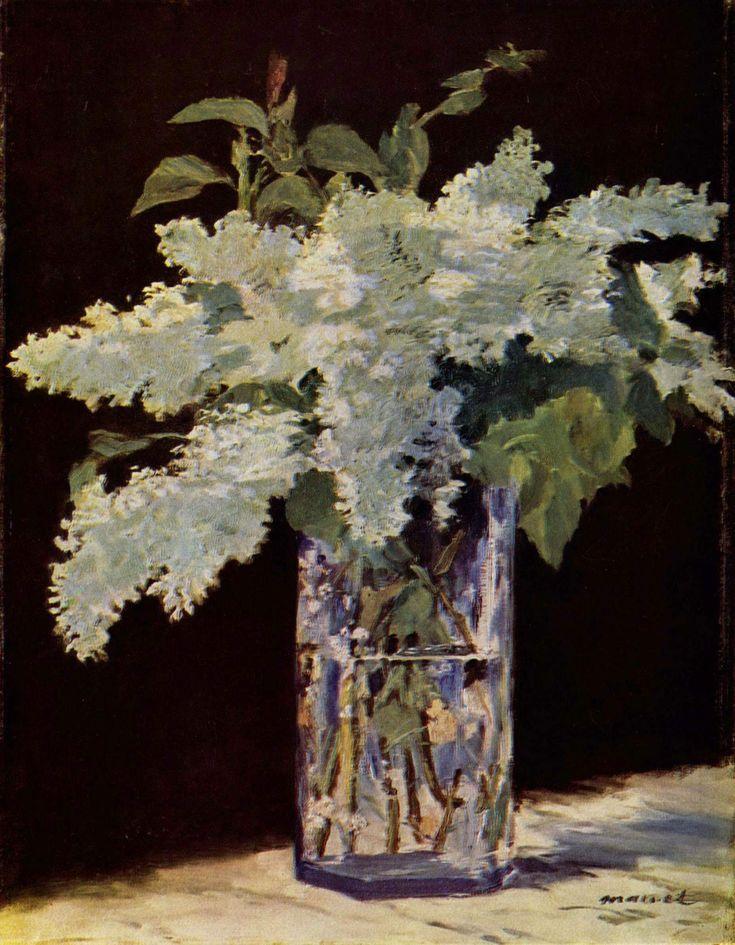 Edouard Manet: Edouardmanet, Glasses, Art, Edouard Manet, 1832 1883, Édouard Manet, Paintings, Flowers, White Lilacs