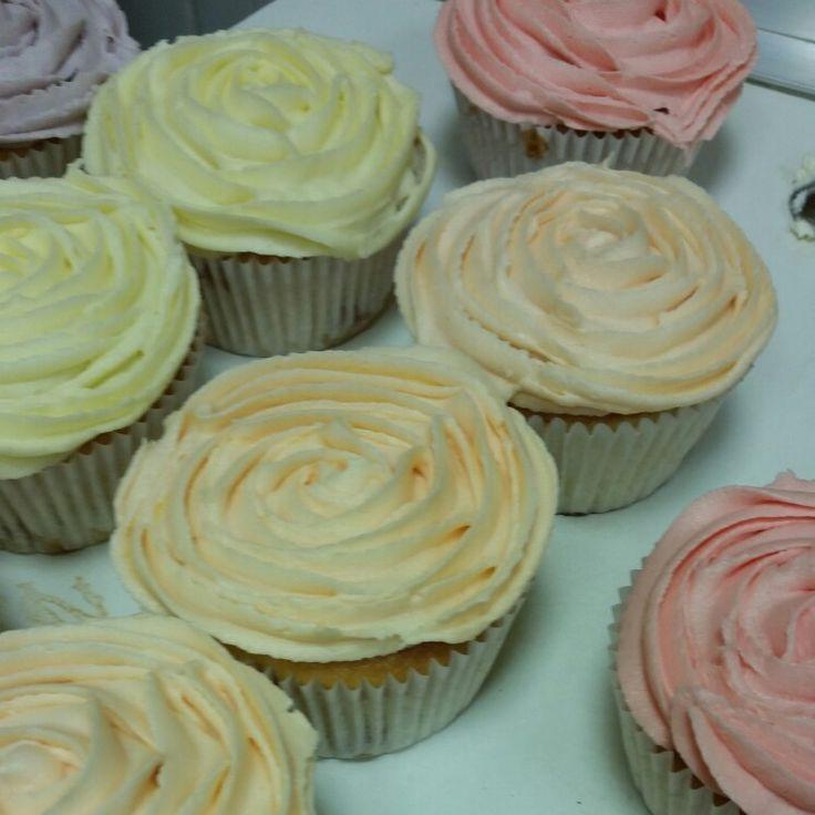 Lovely rainbow cupcakes