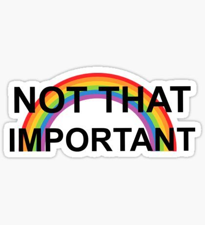 Not that important harry styles sticker by princessemoji