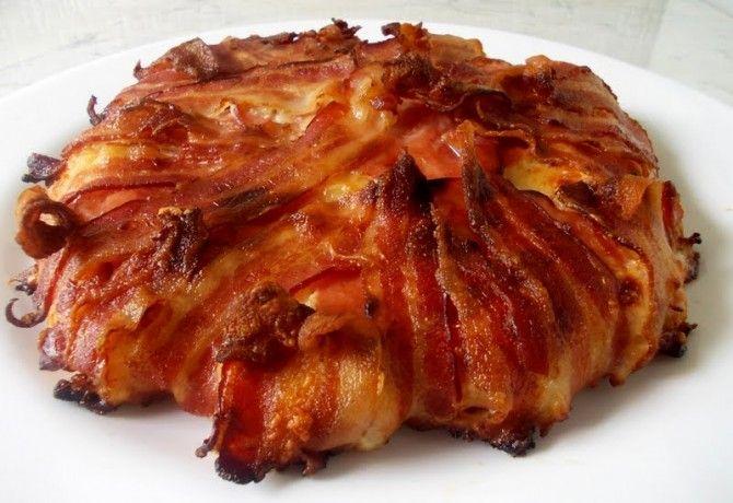 Bacon-ös csirketorta