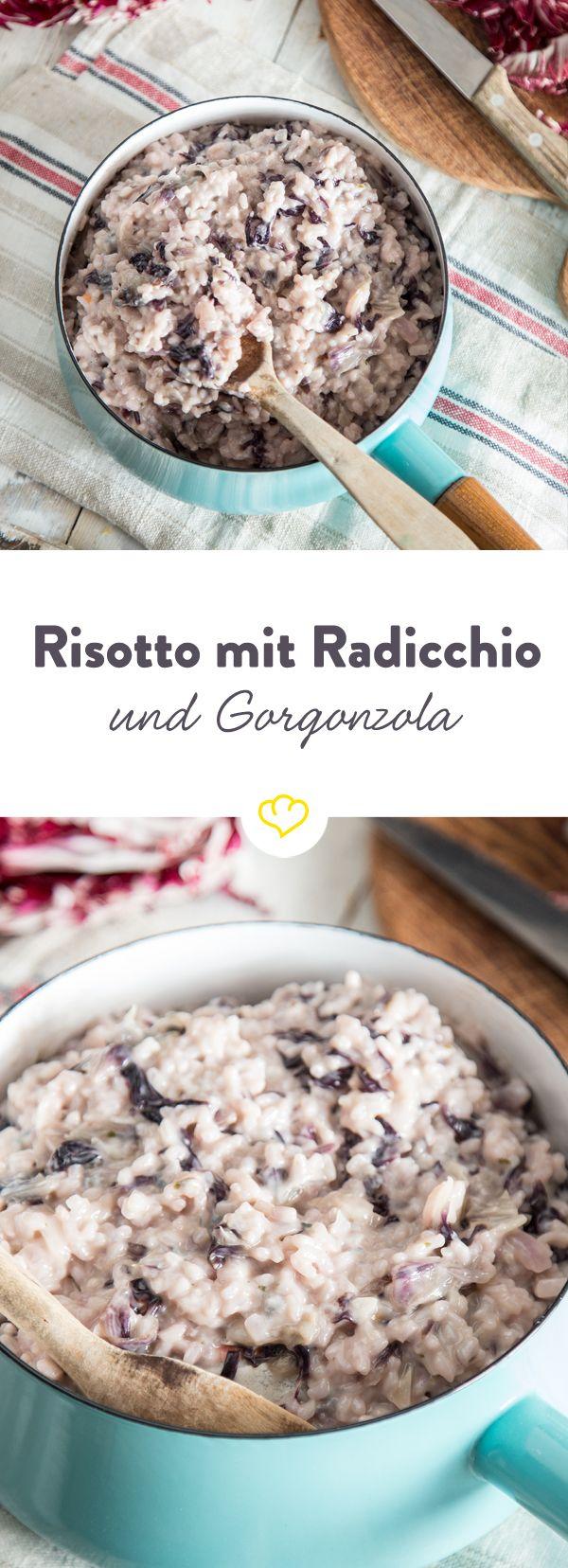 Du hast Angst vor Risotto? Musst du nicht! Das Rezept ist absolut gelingsicher und schmeckt dank Radicchio und Gorgonzola wie das Original aus dem Norden.