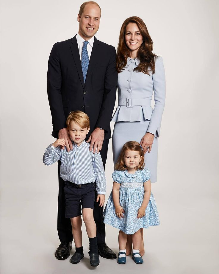 l: The Duke and Duchess of Cambridge are pleased to share a new photograph of their family. The image features on Their Royal Highnesses' Christmas card this year. The photograph shows...