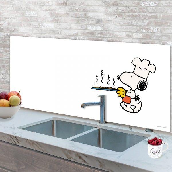 Spritzschutz Kuche Herdspritzschutz Kuchenruckwand Peanuts Snoopy Cookies Wanddekor Kuchenruckwand Wand Dekor Spritzschutz
