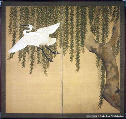 白鷺図 - 鈴木其一