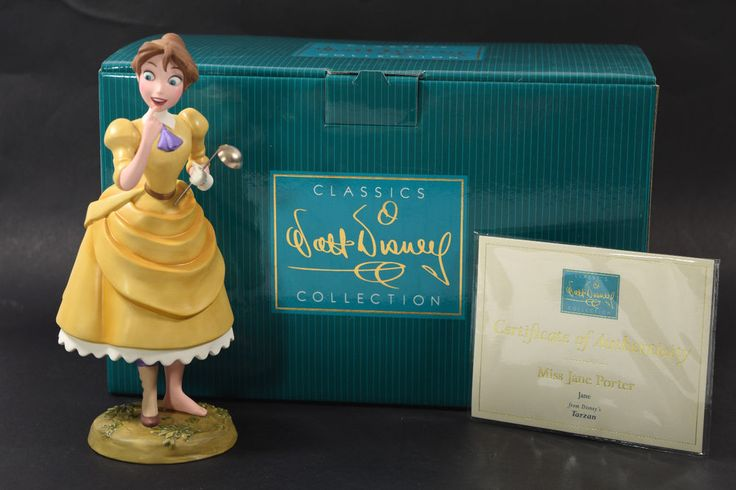 #WDCC Miss Jane Porter from #Tarzan #Disney #Figurine with Box & COA