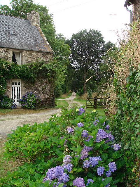 Coming around the bend always makes me smile, it's so quaint and charmingly French. There's a Manoir de Prevasy ~in Brittany just like it.........Oui.