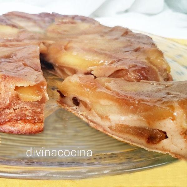 Este gratén de manzanas es un postre sencillo y muy natural, con poca masa y mucha fruta. Se puede hacer también con peras o melocotones.