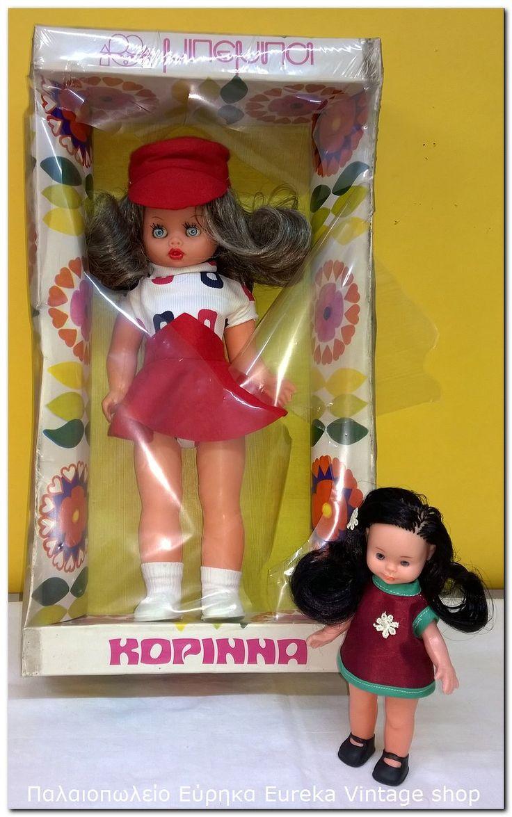 Κούκλα ΜΠΕΜΠΑ από την ελληνική εταιρία ΑΠΕΡΓΗΣ με το όνομα ΚΟΡΙΝΝΑ. Η κούκλα είναι μέσα στο κουτί της, αχρησιμοποίητη. Έχει σκιστεί μόνο το σελοφάν.