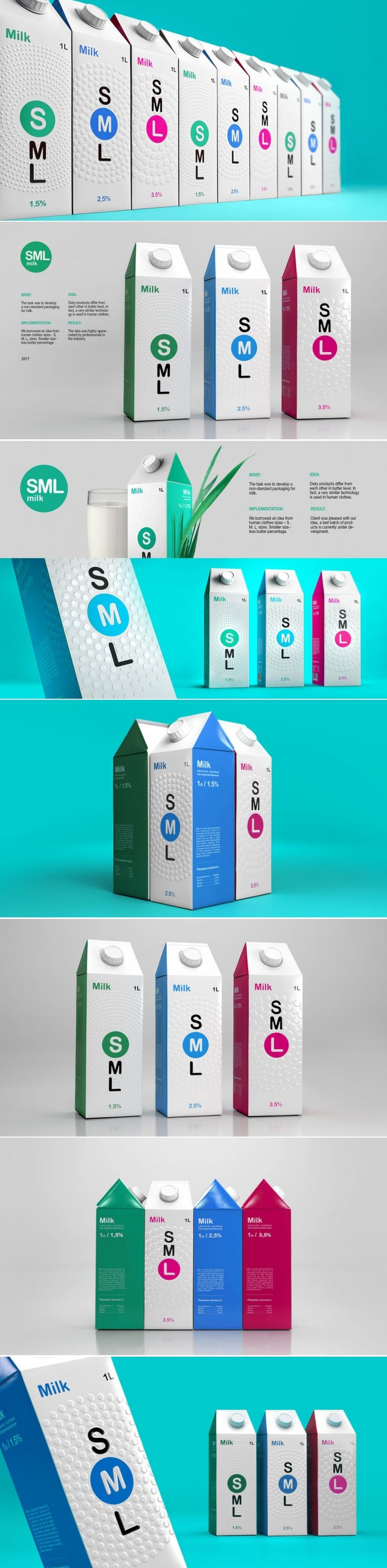 How SML Milk Used Clothing Sizes for this Inventive Design Concept — The Dieline | Packaging & Branding Design & Innovation News
