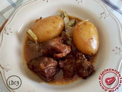 Carrilleras de cerdo al pedro ximénez - Elplacerdelacarne.com