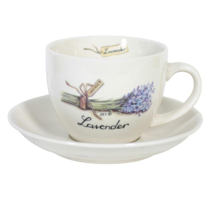 #Servies 'Lavender' met #lavendel illustratie van Jet Middag van World Of Jet