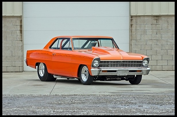 1-1967 Chevy Nova Pro Street 427.   Love it takes me back....Easy.