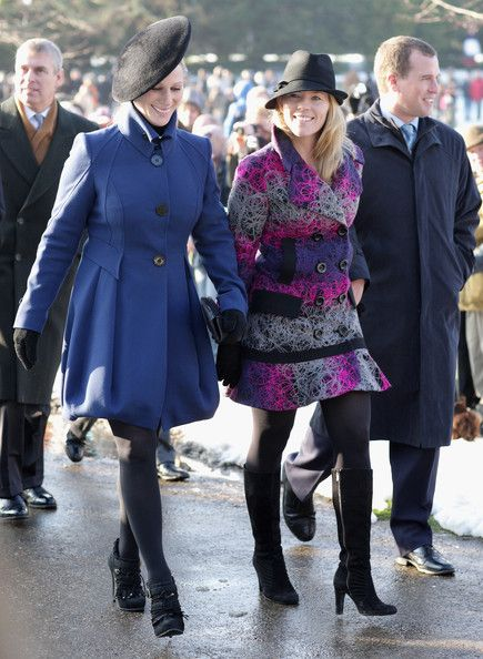 Zara Phillips Photos - Royals Attend Christmas Day Service At Sandringham - Zimbio