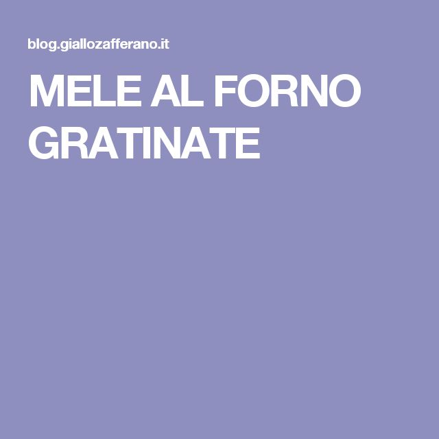 MELE AL FORNO GRATINATE