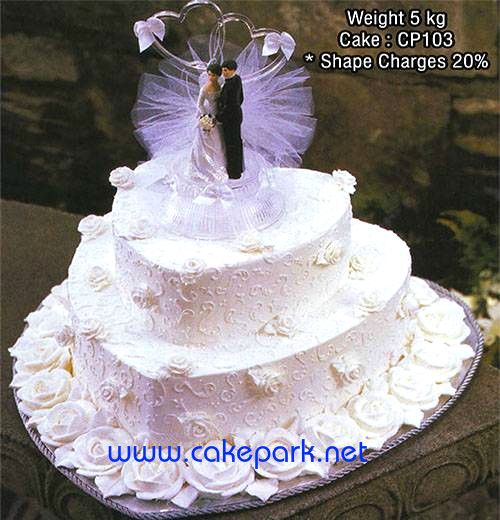Celebrate your love with designer wedding cakes from Cake Park. If you want – 2 tier cakes, 3 tier cakes using a combination of exotic flavours, designs, colours and patterns to make your wedding cake as extravagant as your wedding itself.
