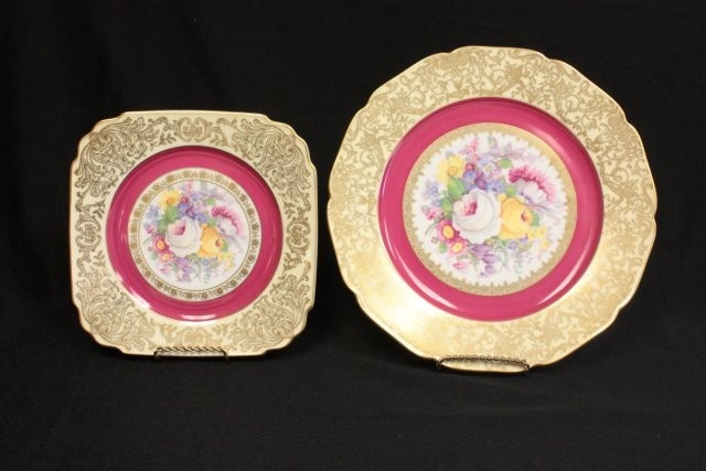 Plates, Gold and Pink on Pinterest