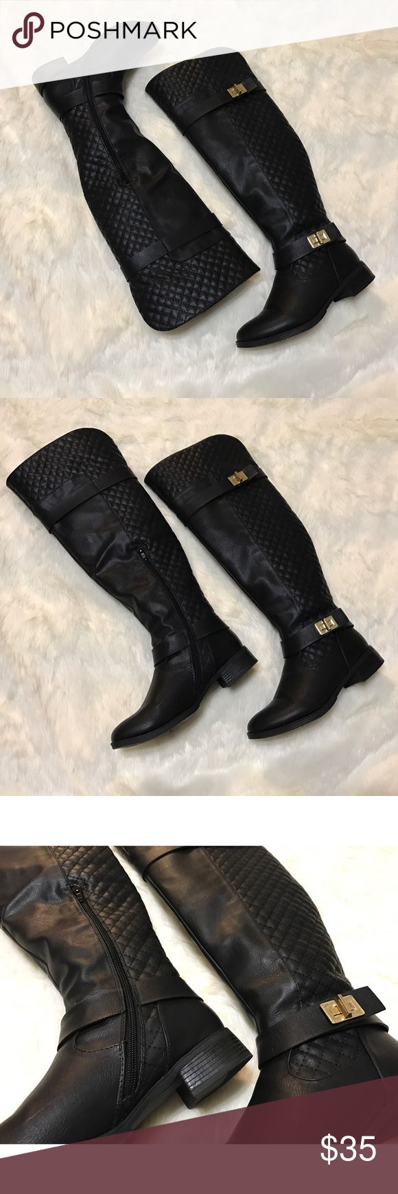 🎉Host Pick🎉⭐️ Tieana Boots ⭐️ Black quilted faux leather tall boots. Only worn a couple of times. Fairly new. In excellent condition.  PRICE IS FIRM unless bundled.  NO Trades. NO Models. Shoe Dazzle Shoes Over the Knee Boots