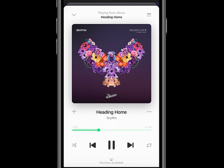 Spotify Player on iOS 10