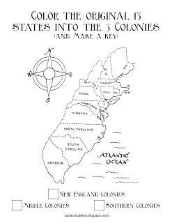 Original 13 Colonies and Colonial Flag {Printable}