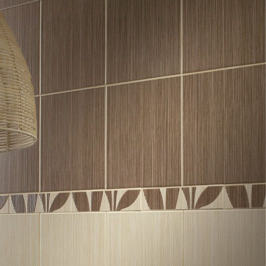 Carrelage salle de bain mural bonsai en fa ence beige for Catalogue salle de bain leroy merlin
